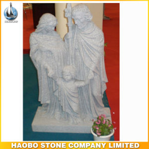 China Granite Light Grey Holy Family Sculptures Religious pictures & photos