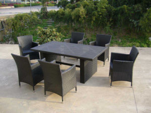 Dining Room Table Chair Outdoor Rattan Wicker Furniture (FS-2060+ FS-2061) pictures & photos