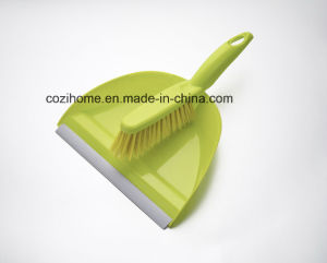 High Quality Sweeper Plastic Dustpan Set with Brush (3413) pictures & photos