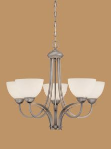 Hot Sale Chandelier with Glass Shade (1935BPW)