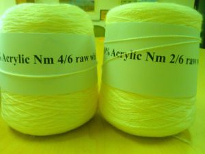 Acrylic Yarn for Hand Knit (Nm 6/2 Raw White HB in Cone) pictures & photos