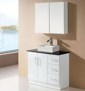 Single Basin Bathroom Vanity with Mirrors (SK17-900W) pictures & photos