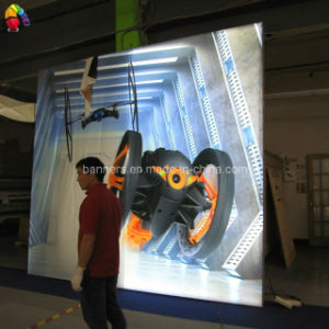 Wall Mounted Frameless Tension Fabric Advertising Light Box pictures & photos