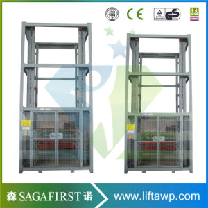 Two Guide Rails Vertical Goods Lift pictures & photos