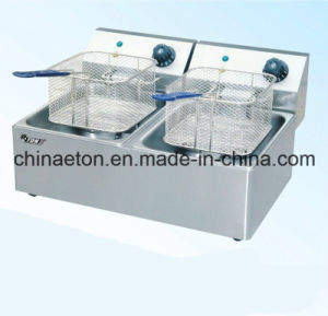 Electric Double Fryer with CE Certificate pictures & photos