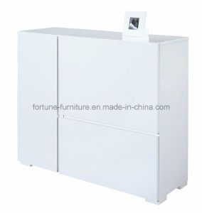Wooden UV High Gloss White Buffet (30481) pictures & photos