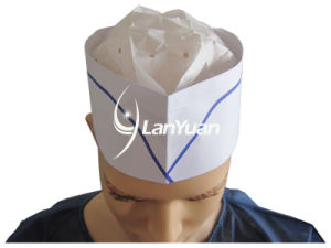 Disposable Paper Forage Cap (Blue Single Strip) pictures & photos