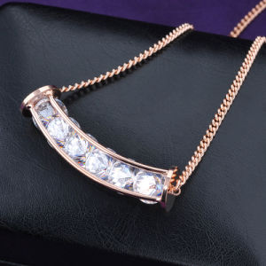 Gold Plated Beads Necklace with Crystal Perfume Pendant pictures & photos