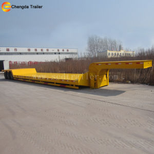 Sale 3 Axles 60t Low Bed Semi Trailer pictures & photos