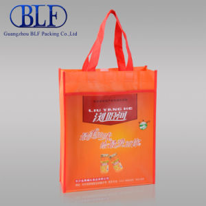 Custom Orange Laminated Shopping Non Woven Bag (BLF-NW144) pictures & photos
