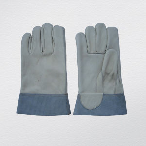 Cow Split Leather Welding Work Glove pictures & photos