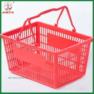 Red Plastic Shopping Mall Use Shopping Basket (JT-G08) pictures & photos