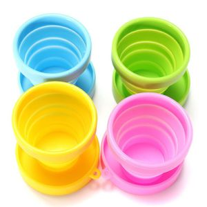 Candy Color Eco Friendly Food-Grade Silicone Folding Cup pictures & photos
