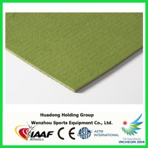 Prefabricated Rubber Mat Sports Flooring for Badminton, Basketball, Volleyball, Tennis Court Mat pictures & photos