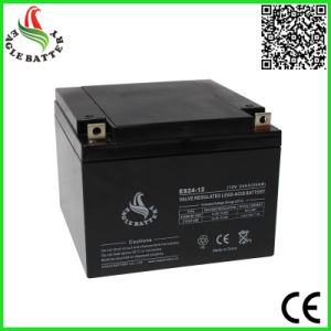 12V 24ah Rechargeable Sealed Lead Acid Battery for Solar Power System pictures & photos