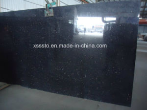 Black Galaxy Granite Slabs for Flooring/Wall Cladding/Countertops pictures & photos