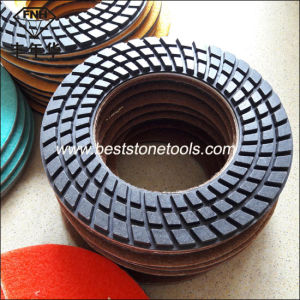 Cr-32 Resin Floor Pad for Stone Polishing (Dia: 188mm, Hole 110mm) pictures & photos