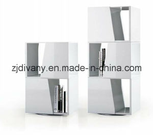 Modern Style White High Glossy Bookcase (SG-03) pictures & photos