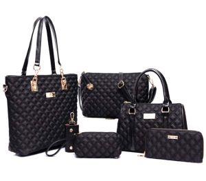 Lingge Leather Bag 6PCS Set Handbag Fashion Designer Handbag (XM0174) pictures & photos