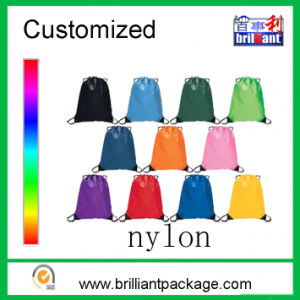 Nylon Drawstring Bag Drawstring Backpack Sports Bag Shoe Bag pictures & photos