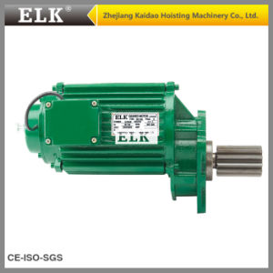 Elk 0.4-0.13kw Double Speeds Crane Geared Motor pictures & photos