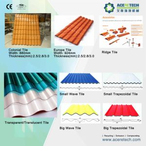 PVC Corrugated/Wave/Roof/Glazed/Colonial/Transparent/Translucent/ Tile Making/Extruding/Producing Machine pictures & photos