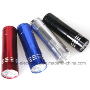 Promotion Gifts Aluminum 9 LED Flashlight with Logo Printed (4080) pictures & photos