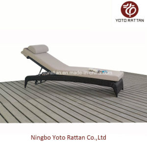 Rattan Lounge Without Wheels in Brown (1116) pictures & photos