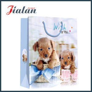 Animal Design Cute Dog Cheap Printed Customize Waterproof Paper Bag pictures & photos
