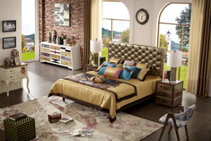 New Modern Genuine Leather Bed with Latest Design 2016 pictures & photos