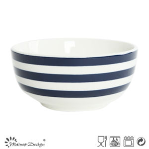 14cm Porcelain Dinner Bowl with Blue Circles Design pictures & photos