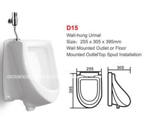 Ceramic Wall-Hung Urinal, Top Spud Installation No. D15 pictures & photos
