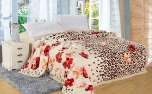 Full Flower Printing High Quality Polyester Blanket pictures & photos