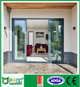 Pnoc Sliding Door on Double Glazed Aluminium Doors and Aluminium Windows with White Powder Coating pictures & photos