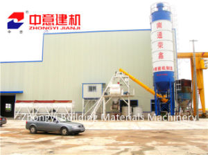 Hzs 25 35 50 60 M3/H Stationary Concrete Batching/Mixing Plant with Sicoma Mixer for Construction pictures & photos