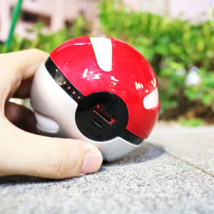 Portable Pokeball Power Bank with LED Flashlight