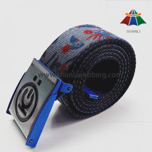 Factory Direct Heat Transfer Polyester Fashion Men Webbing Belt pictures & photos