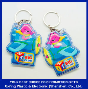 Pressed PVC LED Torch Keyring pictures & photos
