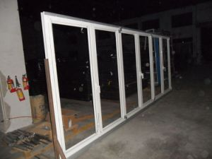 60series Thermal Break Aluminum Folding Door with Internal Blinds or Shutters pictures & photos