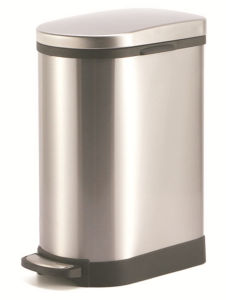 Round Pedal 10L Stainless Steel Waste Bin (KL-013) pictures & photos