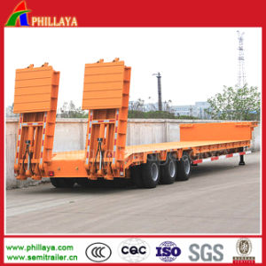 Low Bed Loader Semi Truck Trailer for 80tons Equipment pictures & photos