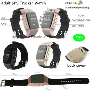 Elderly/Adults GPS Tracker Watch with WiFi Position pictures & photos