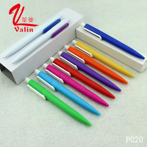 Logo Print Plastic Ballpoint Pen Cheap Clik Plastic Pen pictures & photos