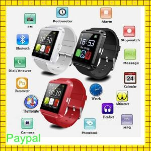 4 Colors Bluetooth 3.0 Waterproof Smart Watch (U8) pictures & photos