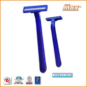 Twin Stainless Steel Blade Disposable Razor Fro Man (LY-2011B) pictures & photos