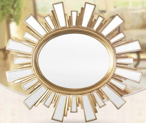 European Style Resin Mirror Frame in Antique Gold Finish for Home Decoration pictures & photos