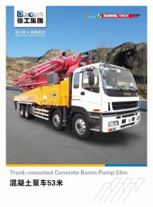 XCMG Hot Sale Hb53k 53m Truck Mounted Concrete Hydraulic Pump pictures & photos