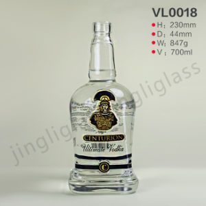 General Empty White Wine Vodka Whisky Glass Bottle for Sale pictures & photos