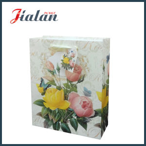 Customize with Glitter Rose Fashion Shopping Hand Gift Paper Bag pictures & photos