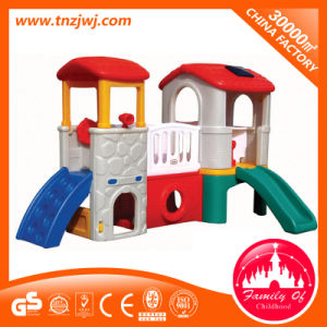 Small Plastic Slide Kids Outdoor Playhouse pictures & photos